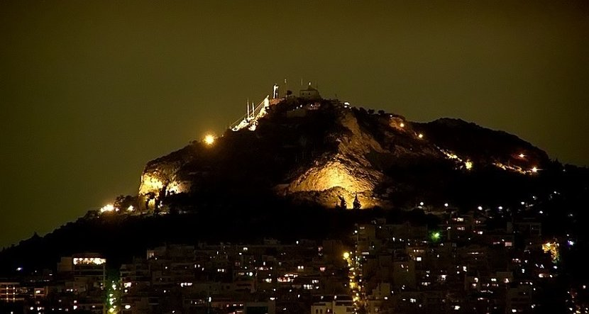 Lycabetus Hill by night