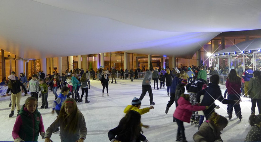 Ice Skating at Megaron Music Hall