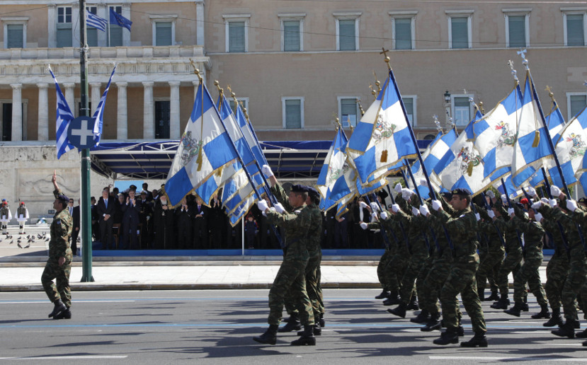 military parade Athens 25 March