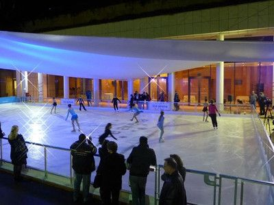 Ice rink in the Megaron Concert Hall